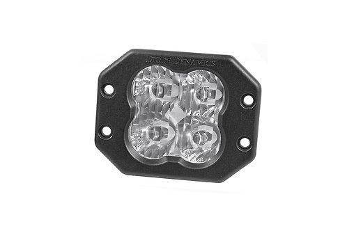 Diode Dynamics SS3 LED Pod Sport Series Flush Mount (Single; White)
