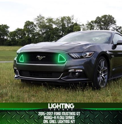 2015-2017 Ford Mustang GT DRL Waterproof Grill Lighting Kit (RGBW-A / Flow Serie