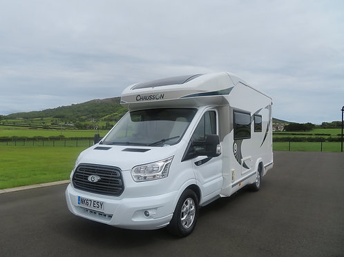 2017 CHAUSSON FLASH 610 4 BERTH MOTORHOME WITH LARGE REAR GARAGE