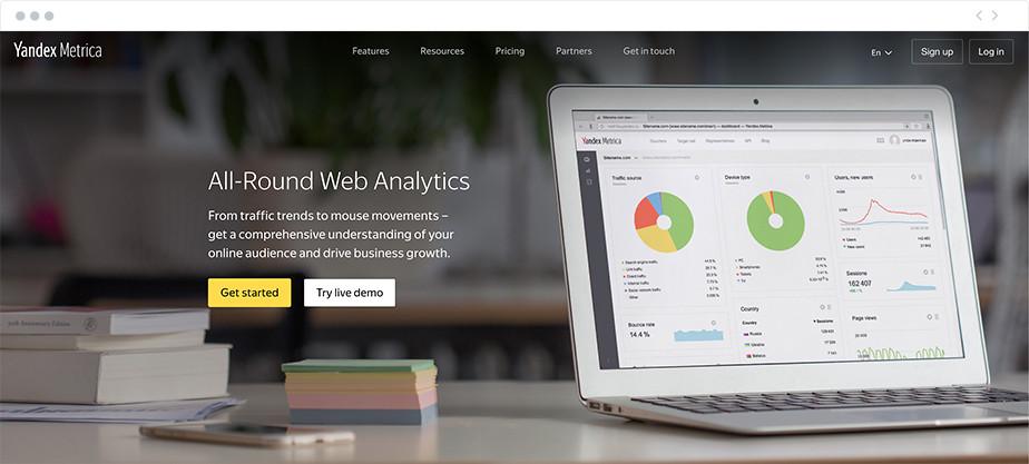 yandex metrica marketing resource