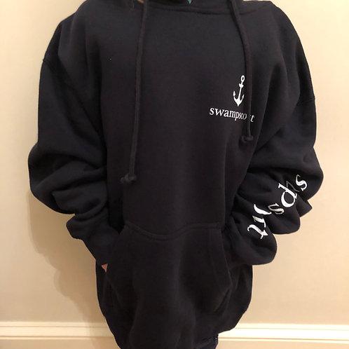 Adult Navy Pullover Hooded Anchor Sweatshirt