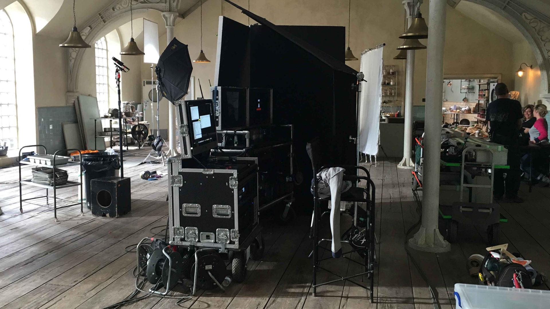 Digital Imaging Technician on the set of Paddington 2