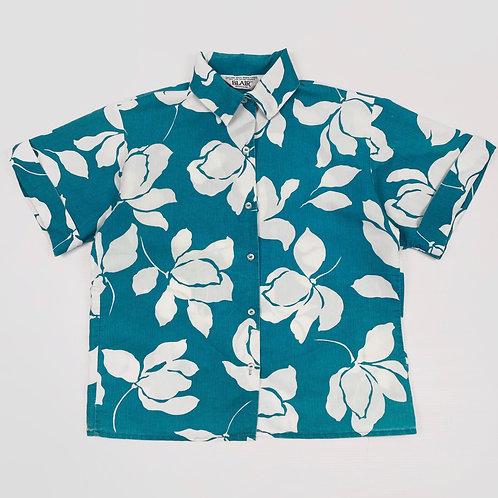 1990s Women's Floral Shirt (M)
