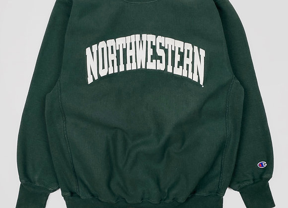Northwestern Reverse Weave Crew (L/XL)
