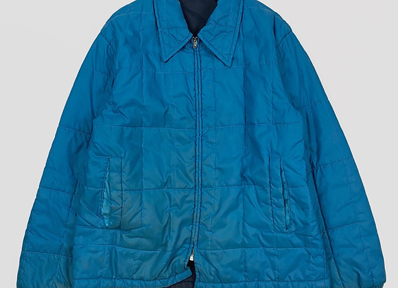 1970s Quilted Nylon Coat (L)