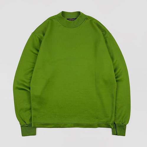 1980s Acetate Mock Neck Shirt (M)