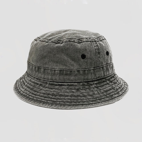 Washed Cotton Bucket Hat (S/M)