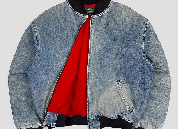 Polo Country Denim Bomber Jacket (L/XL)