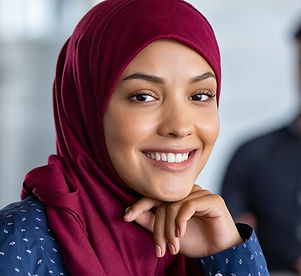 Portrait of young muslim woman wearing h
