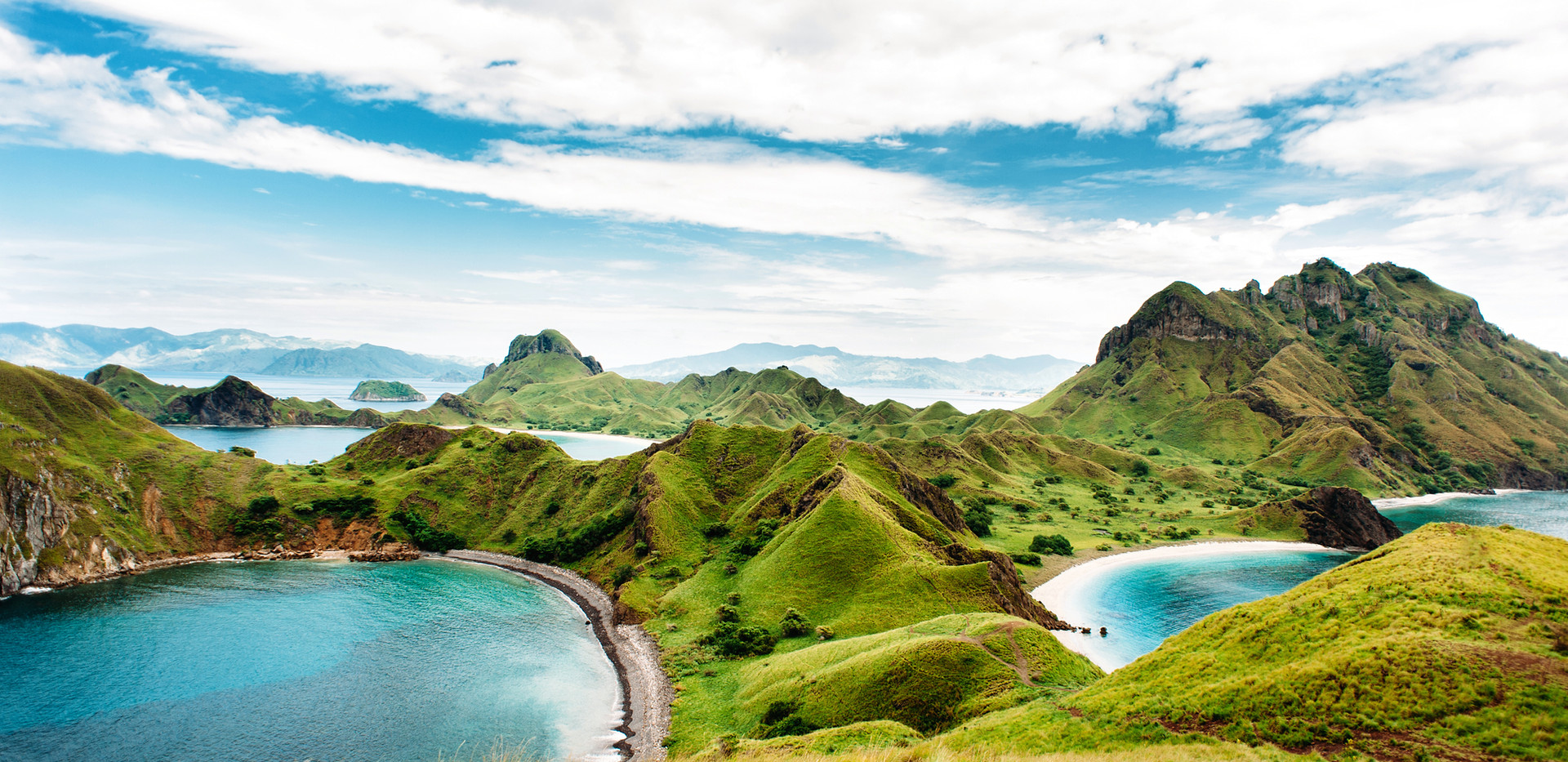 Padar Island, Komodo National Park in Ea