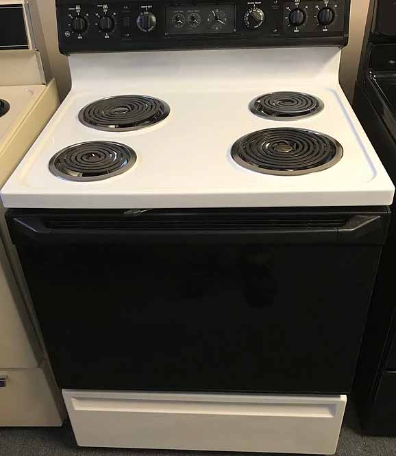 White Electric Coil Top Range
