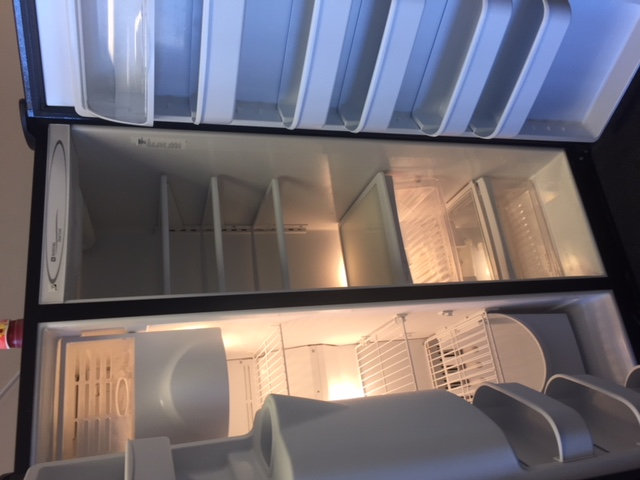 Black Refrigerator - Interior