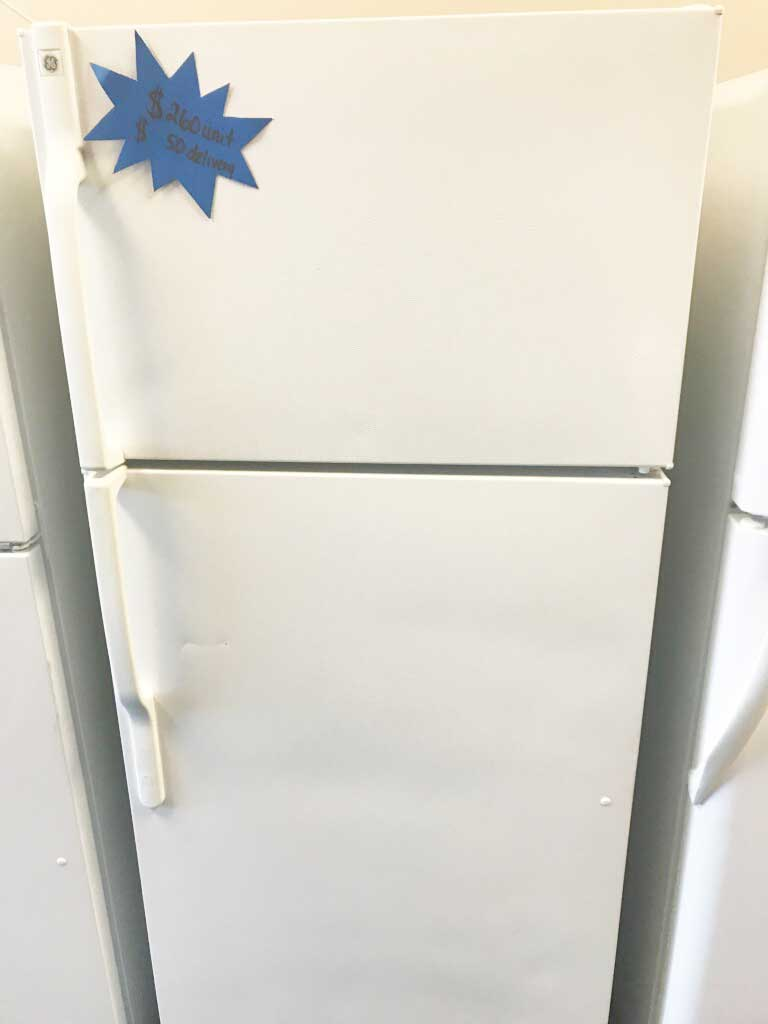 White Top Mount Refrigerator