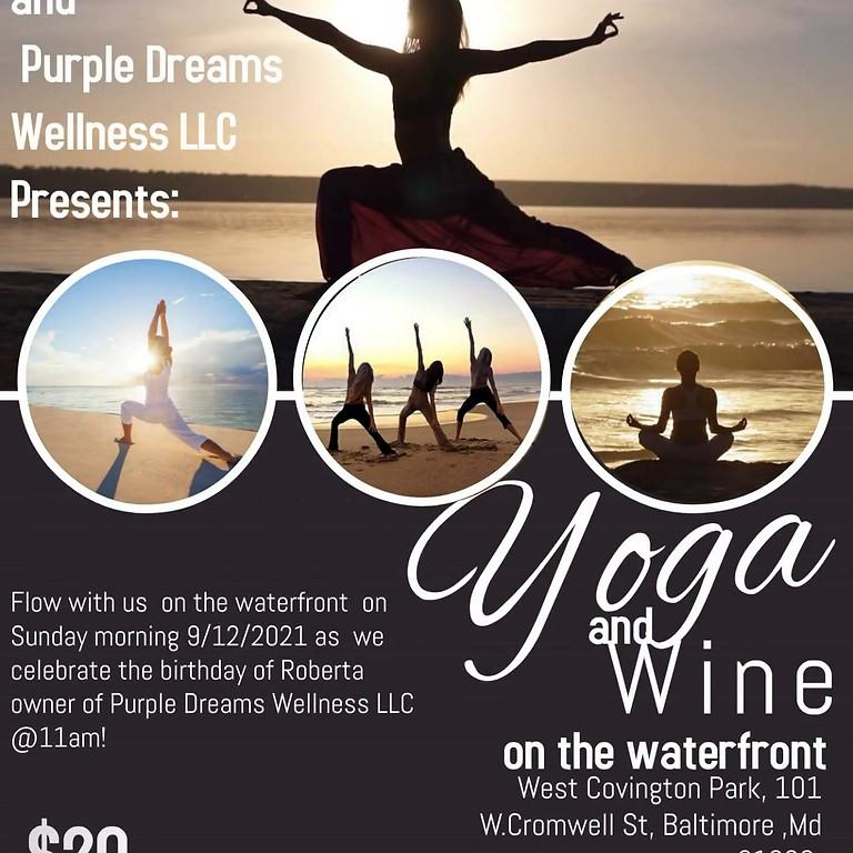 Yoga  & Wine with Purple Dreams Wellness 9/19