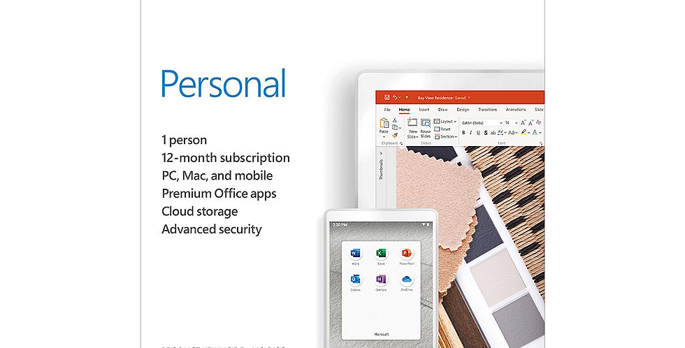 Microsoft 365 Personal | 12-Month Subscription, 1 Person