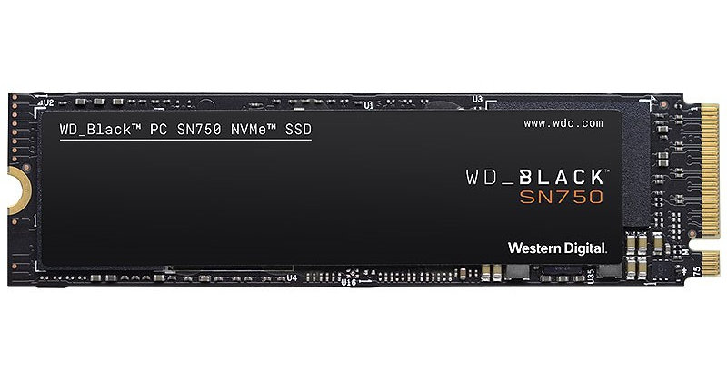 WD BLACK SN750 NVMe SSD M.2 PCI-E x4, 500GB