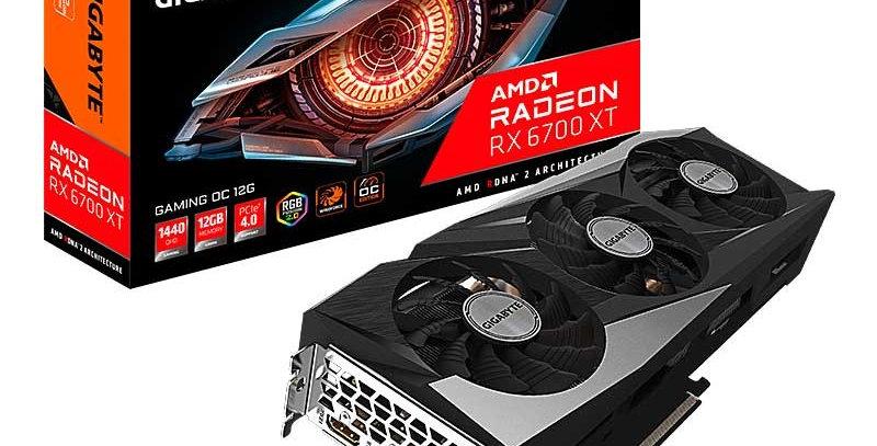 Gigabyte GAMING OC Radeon RX 6700 XT 12GB PCI-E w/ Dual HDMI, Dual DP