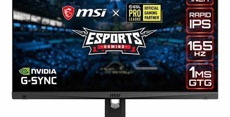 MSI MAG274QRF 27in 16:9 Rapid IPS Flat Gaming Monitor, 165Hz 1ms, 1440P QHD