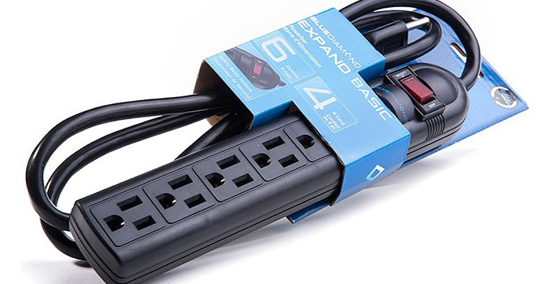 Blue Diamond Expand Basic , 6 Outlet 4ft Extension Power Bar