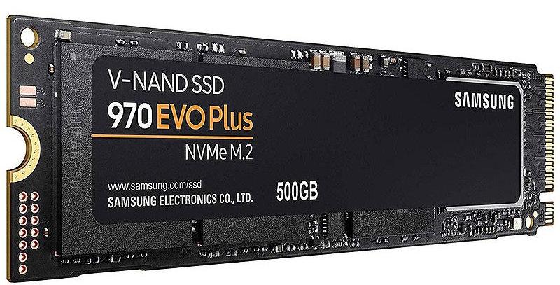 Samsung 970 EVO Plus NVMe M.2 PCI-E x4 SSD, 500GB