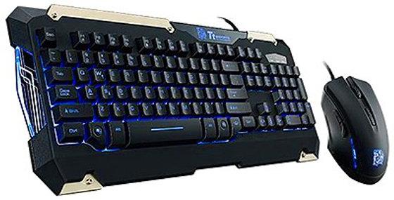 Thermaltake Commander Gaming Gear Keyboard & Mouse Kit w/ LED Backlighting