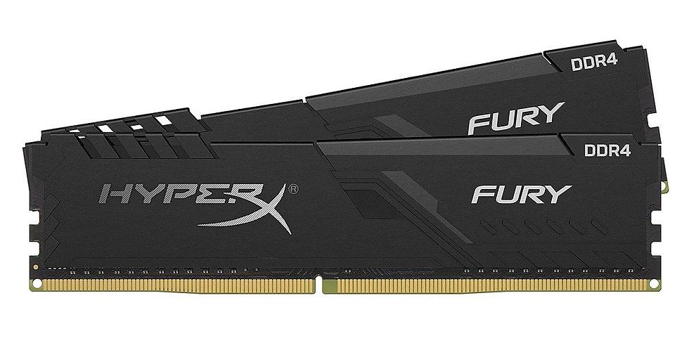 Kingston HyperX Fury 32GB DDR4 2666MHz CL16 Dual Channel Kit (2 x 16GB), Black