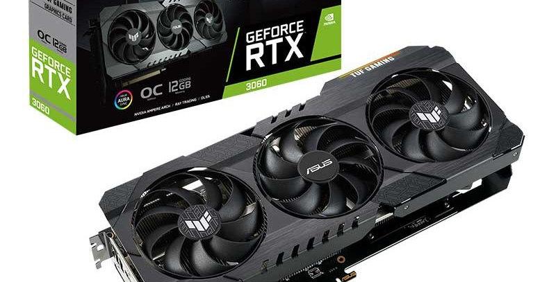 ASUS TUF RTX3060 OC GAMING GeForce RTX 3060 12GB PCI-E w/ Dual HDMI, Triple DP