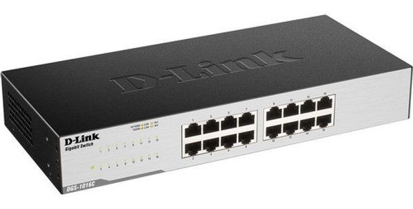D-Link DGS-1016C 16-Port Unmanaged Gigabit Switch