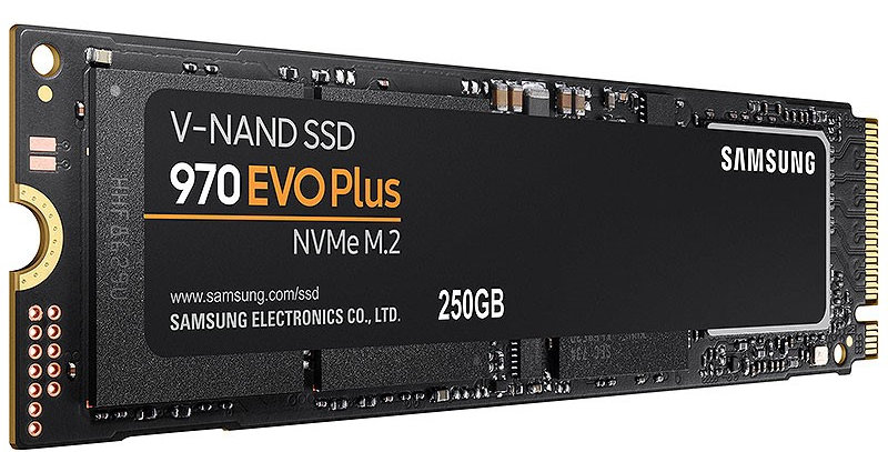 Samsung 970 EVO Plus NVMe M.2 PCI-E x4 SSD, 250GB