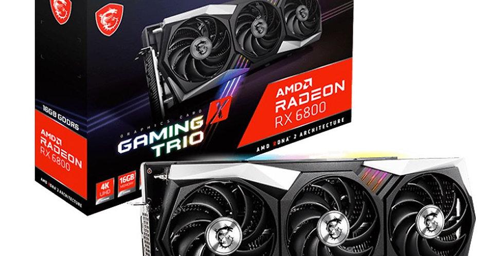 MSI Radeon RX 6800 GAMING X TRIO 16GB PCI-E w/ HDMI, Triple DP