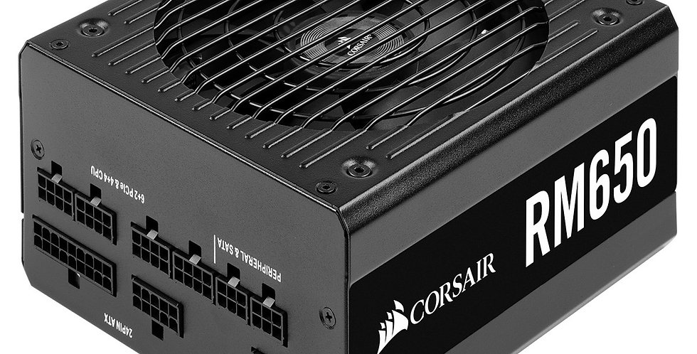 Corsair RM650 Gold Fully Modular 80+ Gold ATX Power Supply, 650W