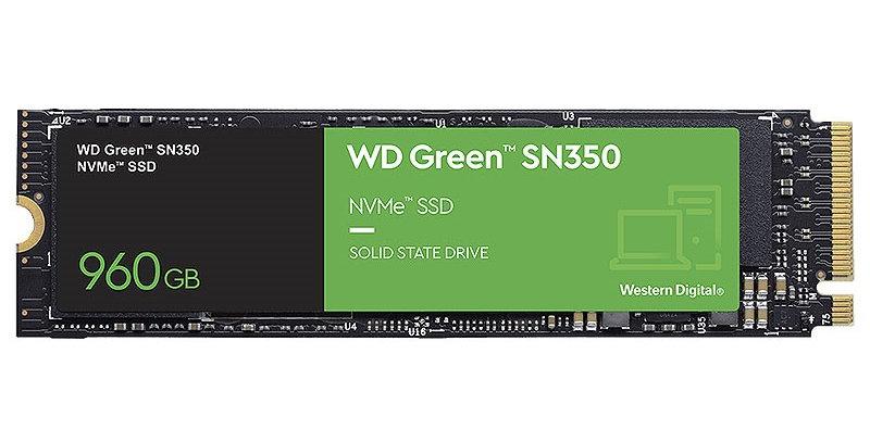 Western Digital Green SN350 M.2 PCI-E NVMe SSD, 960GB