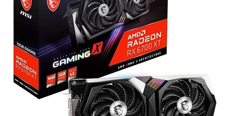 MSI GAMING X Radeon RX 6700 XT 12GB PCI-E w/ HDMI, Triple DP