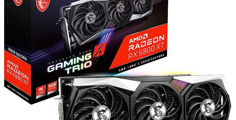 MSI Radeon RX 6800 XT GAMING X TRIO 16GB PCI-E w/ HDMI, Triple DP