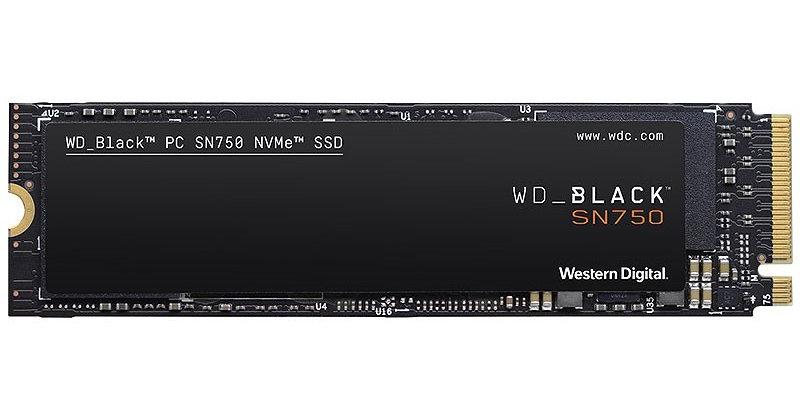 Western Digital Black SN750 NVMe SSD M.2 PCI-E x4, 2TB