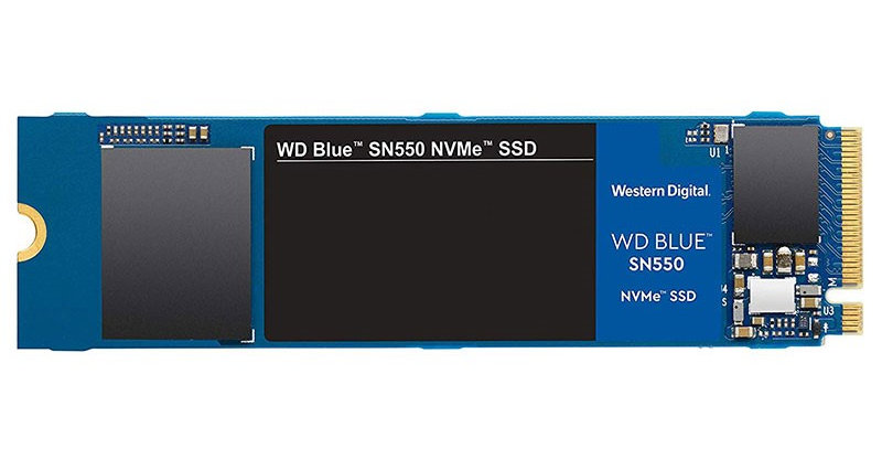 WD Blue SN550 M.2 PCI-E NVMe SSD, 1TB