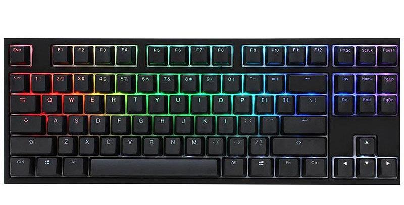 Ducky One 2 RGB TKL Mechanical Keyboard w/ Cherry MX Silver Switches