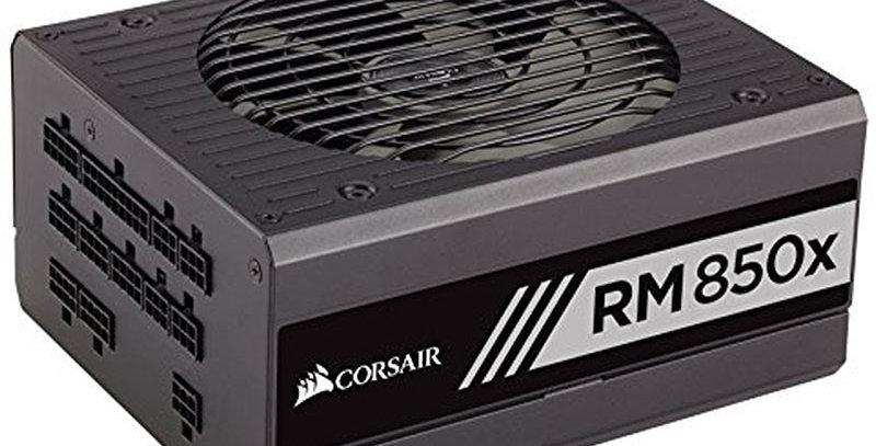 Corsair RMx Series RM850x 80+ Gold Fully Modular ATX Power Supply, 850W, Black