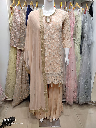 Sharara sets jorjert fabric fully thred work
