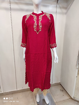 Designer kurti with bsilk pant