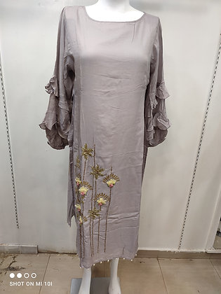 Designer musleen silk kurti