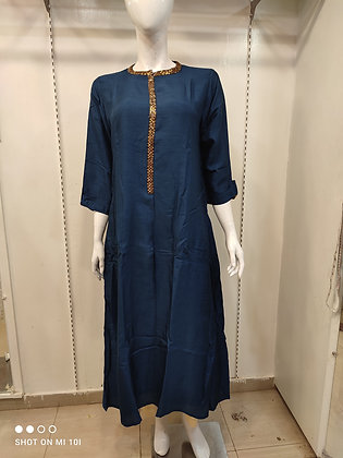 Silk long nee lenth tunic