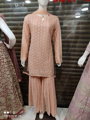 Sharara sets  fully thread work top exclusive wear for women
