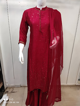 Designer suit with sharara
