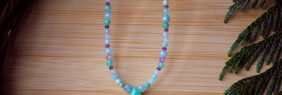 Chrysoprase Drop Necklace