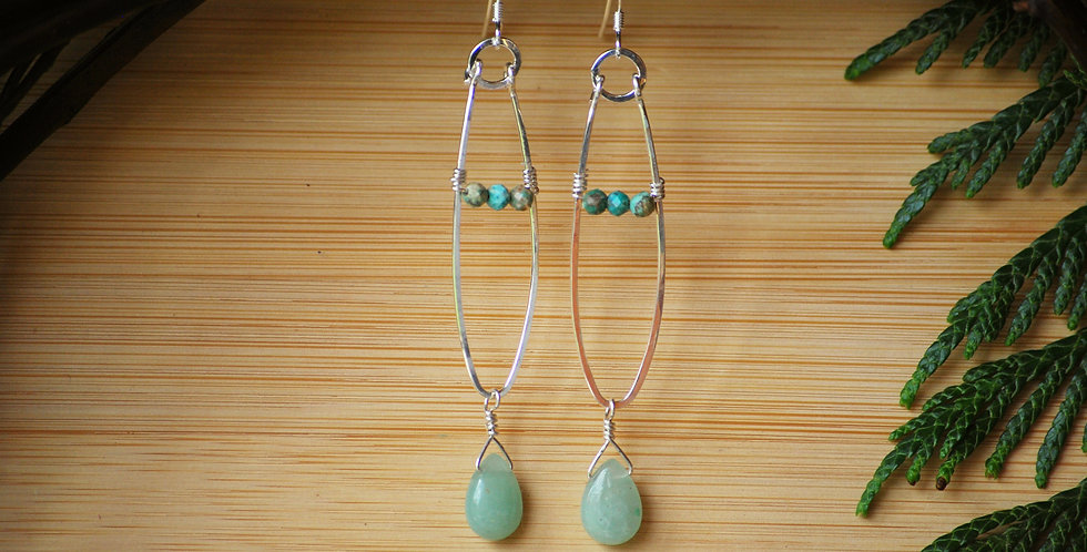 Aventurine and Turquoise Frond