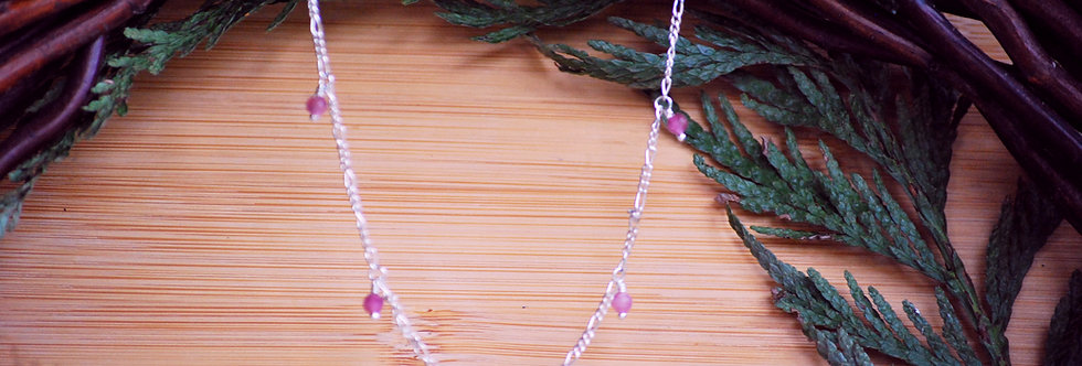 Pink Tourmaline Starlight Necklace