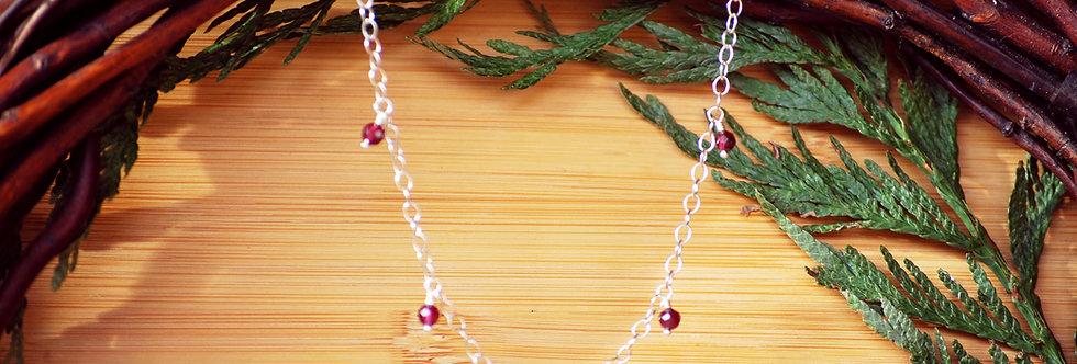 Garnet Starlight Necklace
