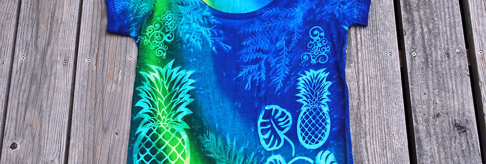 Pineapples and Tropical Leaves