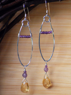 Amethyst and citrine fronds